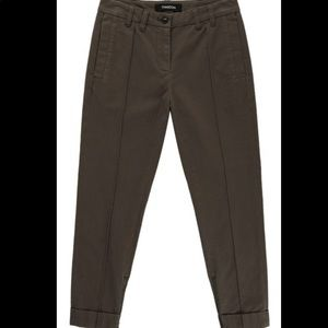Thakoon Army Green Cropped Ankle Pants